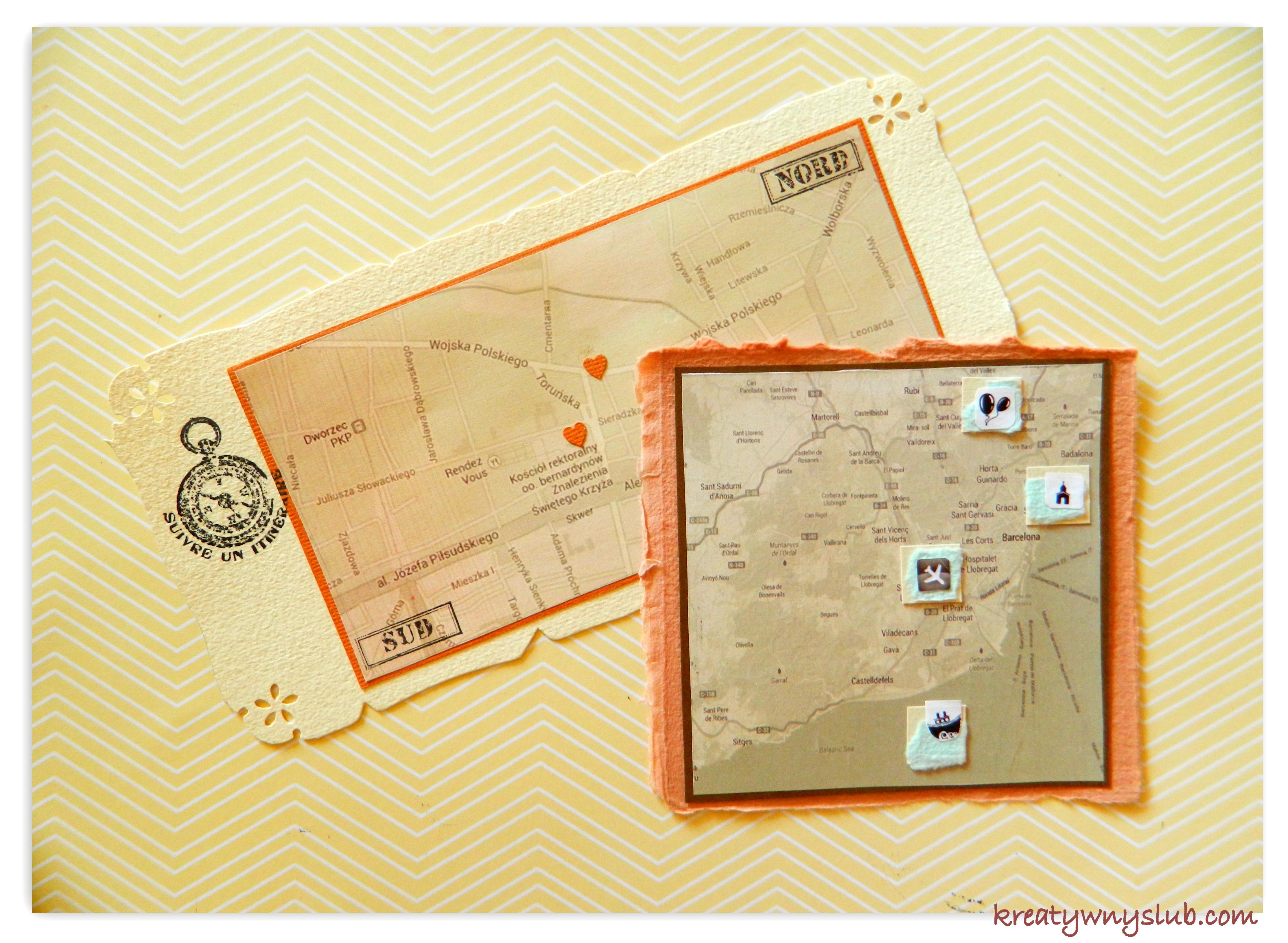 Mapy Ozdobą Zaproszenia Kreatywny ślub